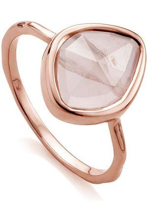 Monica Vinader RP Siren Small Nugget Stacking Rose Quartz ring
