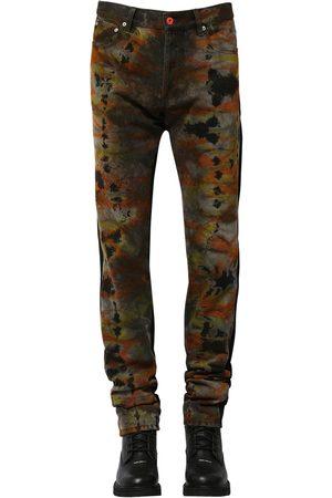 Heron Preston Regular Tie Dye Cotton Denim Jeans