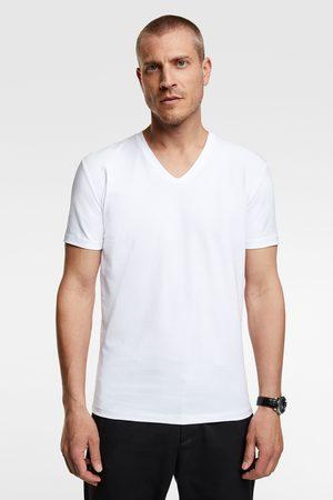 Zara Hombre Playeras - Camiseta básica slim