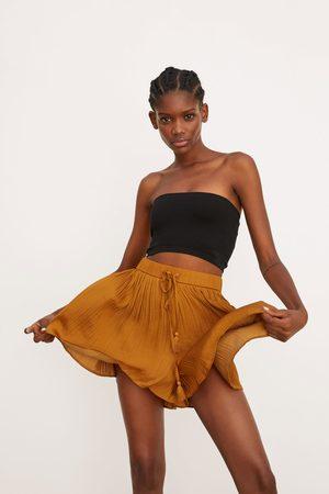Zara Mujer Shorts - Shorts plisado