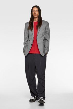 Zara Blazer traje cinzato comfort