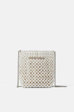 Zara Bolso mini saco perlas