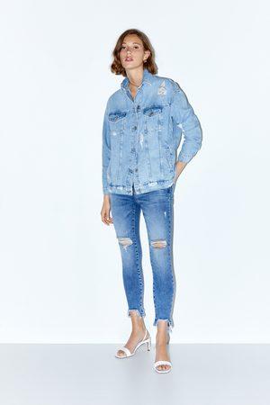 Zara Jeans z1975 mid rise skinny rotos