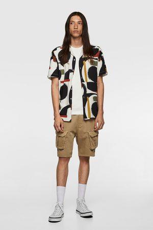 Zara Camisa estampación geométrica