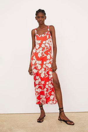 Zara Vestido estampado flores