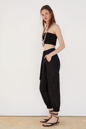 Zara Compra Ahora Pantalones Mujer ¡compara Y Jeans De Al Cinturon 354RjALq