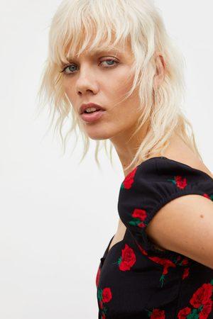 Zara Mujer Camisas - Cuerpo estampado rosas