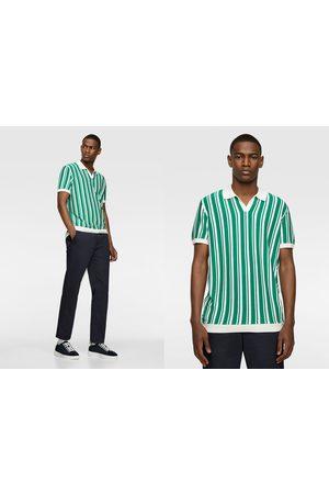 Zara Jersey polo rayas verticales