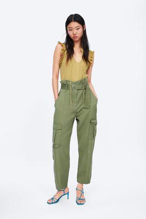 Pantalones Cargo Zara Tienda Para Mujer Fashiola Mx