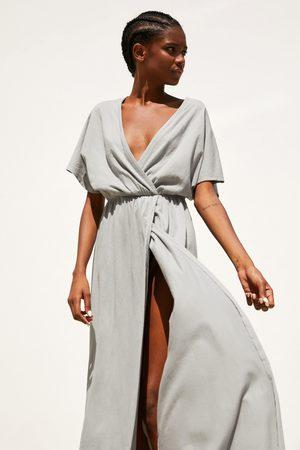 Zara Mujer Vestidos - Vestido cruzado