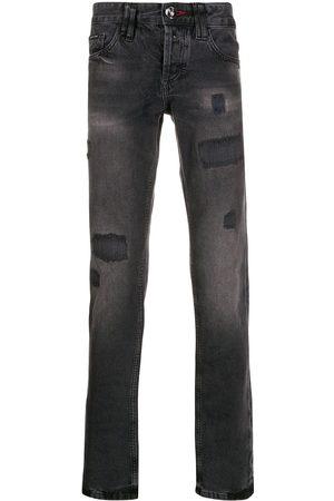 Philipp Plein Hombre Rectos - Jeans rectos con efecto envejecido