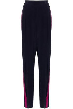 Stella McCartney Mujer Anchos y de harem - High-rise silk crêpe wide-leg pants