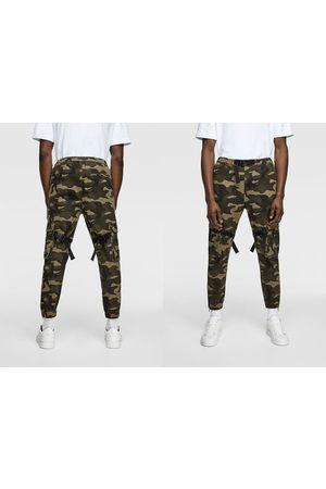 Zara Hombre Pantalones y Leggings - Pantalón camuflaje cintas