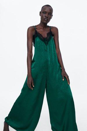 Zara Mujer Largos - Mono lencero satinado