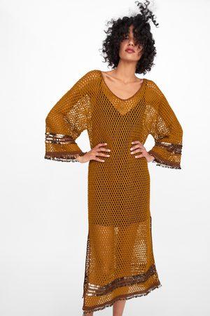 Zara Mujer Vestidos - Vestido estructura lentejuelas