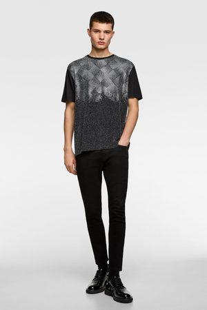 Zara Camiseta abalorios brillo