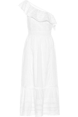 Velvet Mujer De playa - Coco one-shoulder cotton midi dress