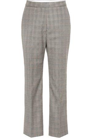 Stella McCartney Mujer De vestir - High-rise checked wool pants
