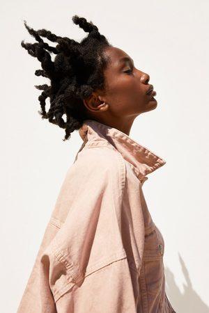 Zara Mujer De mezclilla - Cazadora denim color