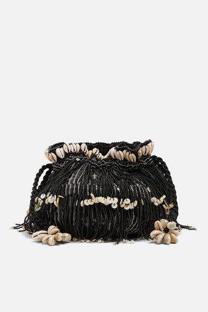 Zara Bolso abalorios lentejuelas conchas edición limitada