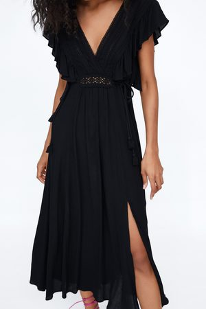 Zara Vestido combinado encaje