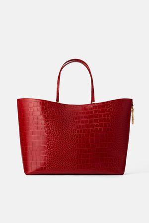 Zara Mujer Bolsas - Bolso shopper estampado animal