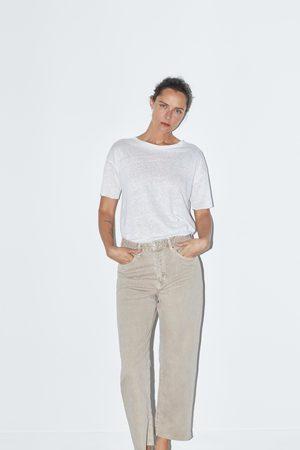 Zara Jeans zw premium straight cropped