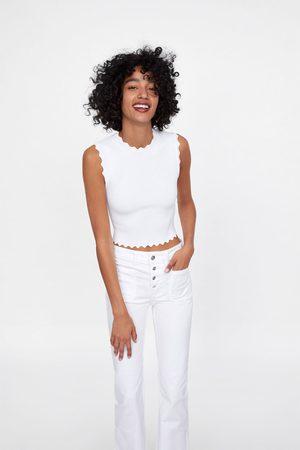 Zara Jeans z1975 flare botones