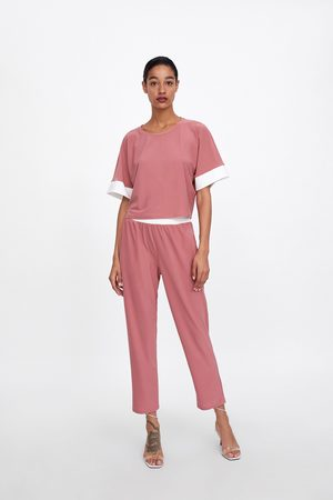 Zara Camiseta manga contraste