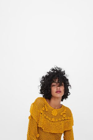 Zara Mujer Suéteres - Jersey crochet volante