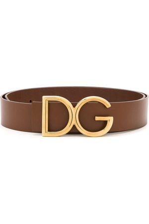 Dolce & Gabbana Hombre Cinturones - Cinturón con placa del logo