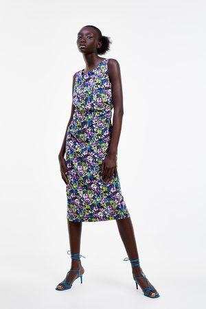 Zara Mujer Ajustados y entubados - Vestido tubo estampado