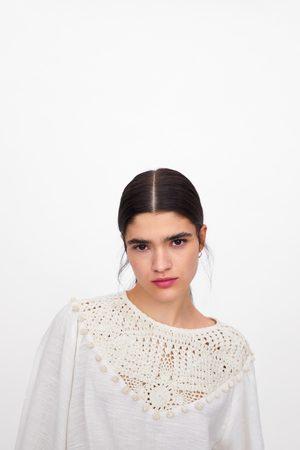 Zara Blusa algodón combinada