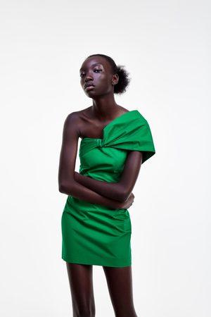 Zara Vestido escote drapeado