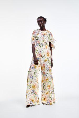 Zara Pantalón ancho estampado floral