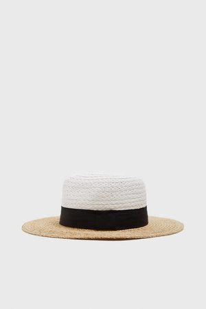 Zara Mujer Sombreros - Sombrero bicolor