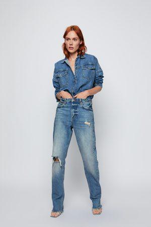 Zara Sobrecamisa zw premium denim mic blue