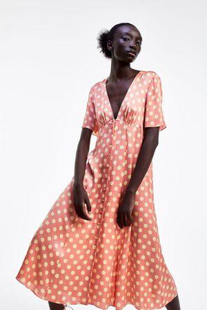 Zara Mujer Vestidos - Vestido lunares