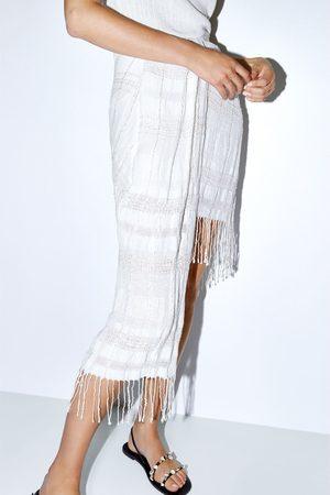 Zara Falda mini flecos