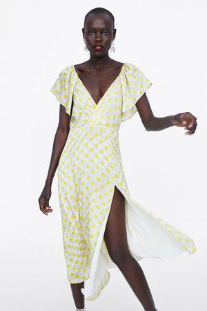 Zara Mujer Vestidos - Vestido lunares largo