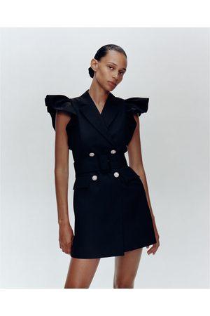 Zara Chaleco vestido volantes