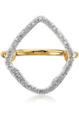 Monica Vinader Anillo Riva con diamantes
