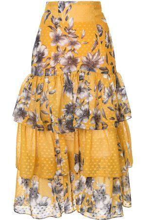 Bambah Falda con volantes y estampado floral