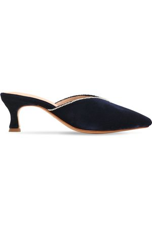 ZYNE Zapatos Mules De Terciopelo Decorado 50mm