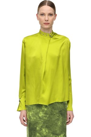 MARQUES'ALMEIDA Mujer Camisas - Camisa De Satén Con Hebilla En Cuello
