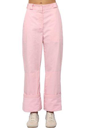 Loewe Pantalones Cargo De Lona De Algodón