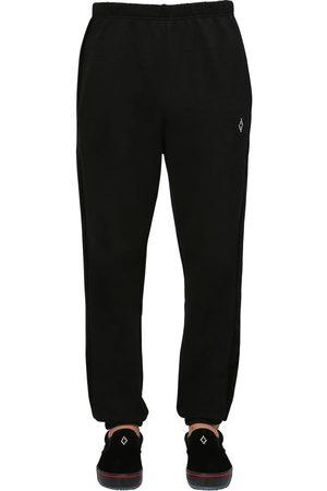 MARCELO BURLON Pantalones Deportivos De Terciopelo Y Jersey