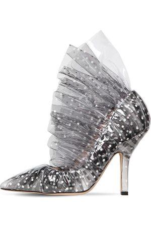 Midnight 00 Zapatos Pumps De Plexi Y Tul 105mm