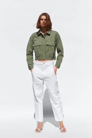 Zara Mujer Capri o pesqueros - Jeans z1975 high rise cropped