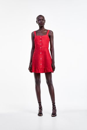 Zara Vestido mini volantes